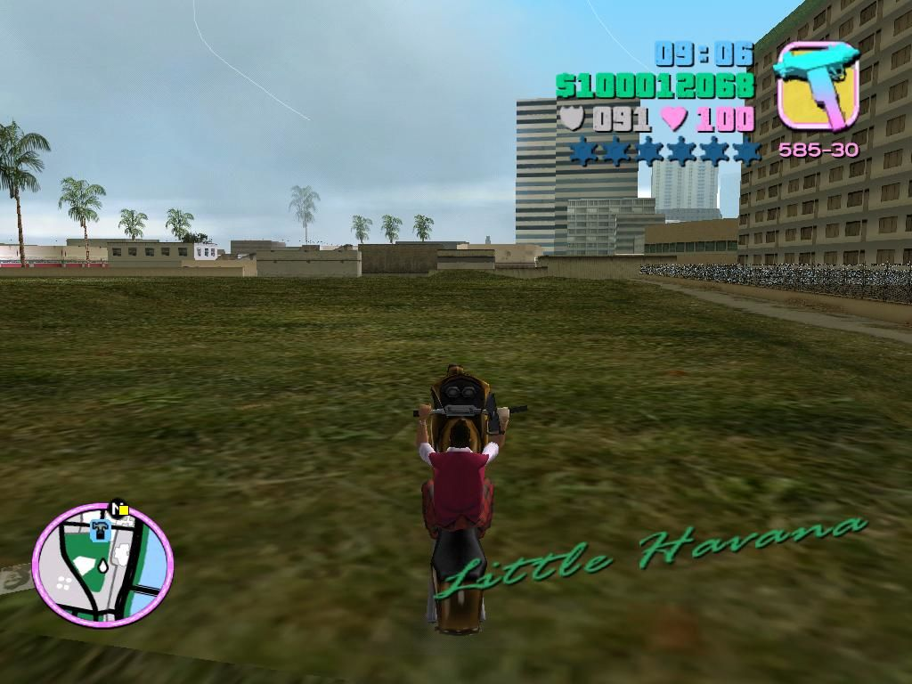 Grand Theft Auto: Vice City Windows On motorcycles, you can pop wheelies or perform stoppies.