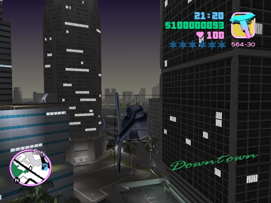 Grand Theft Auto: Vice City Windows You can fly helicopters to get around the city more quickly.  Just don't jump out in mid air.