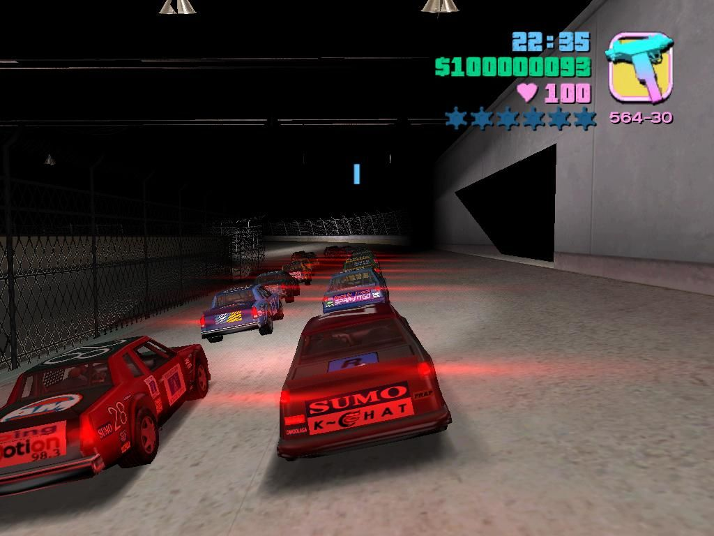 Grand Theft Auto: Vice City Windows One of the minigames lets you race in a stock car competition at the stadium.