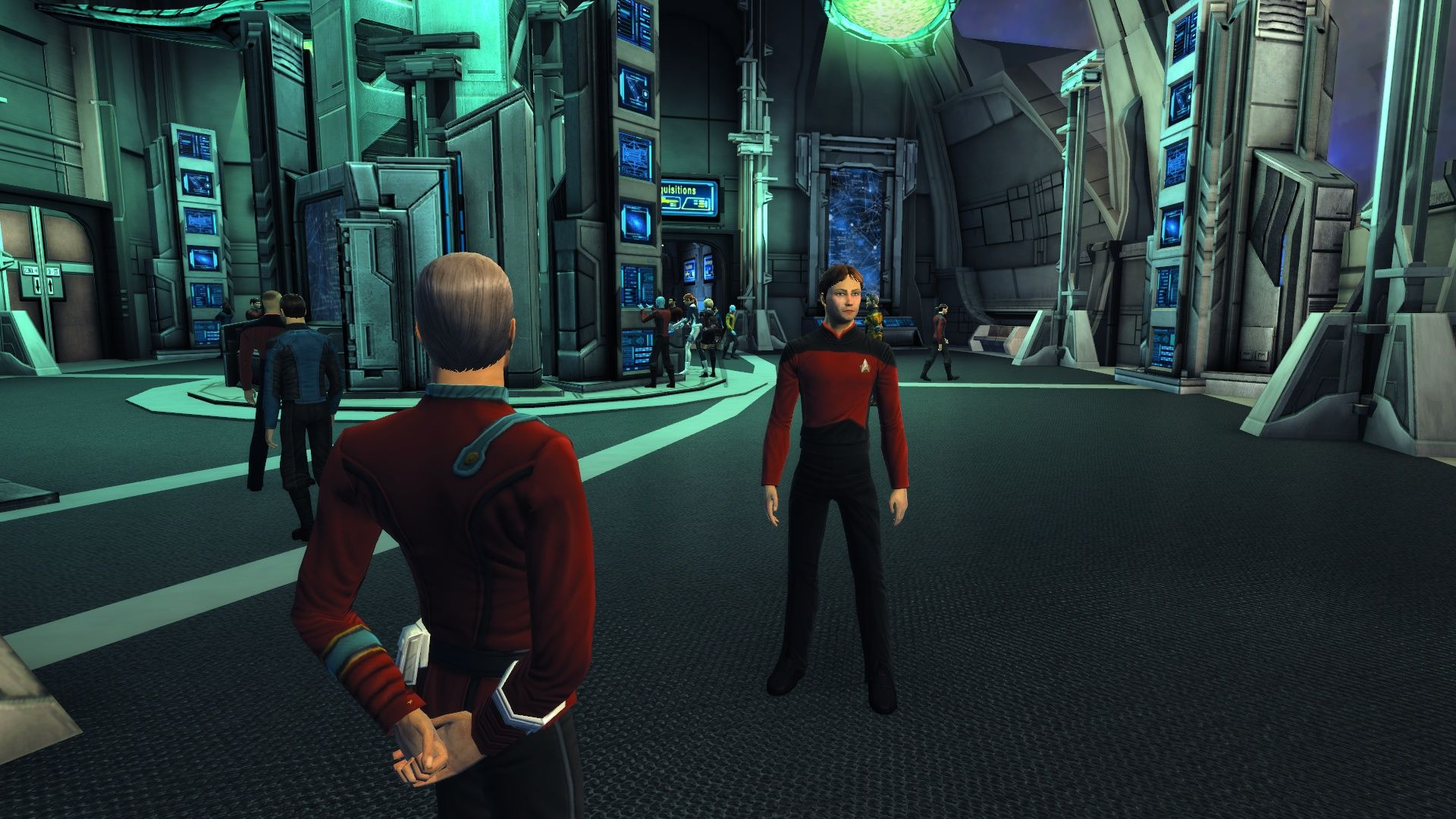 "Star Trek Online (Collector's Edition) Windows A player wearing the exclusive ""The Next Generation"" uniform."