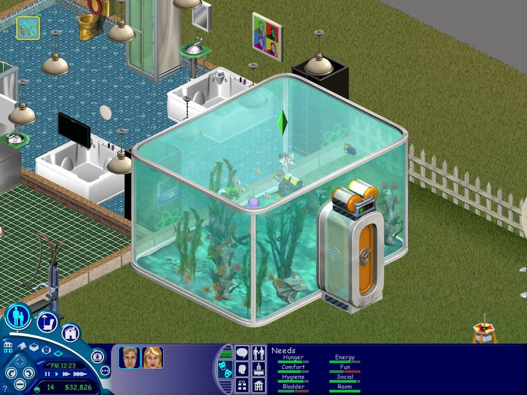 The Sims: Superstar Windows The scuba diving tank.  Great way to relieve stress.