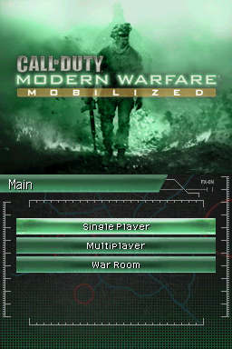 Call of Duty: Modern Warfare - Mobilized Nintendo DS Title screen