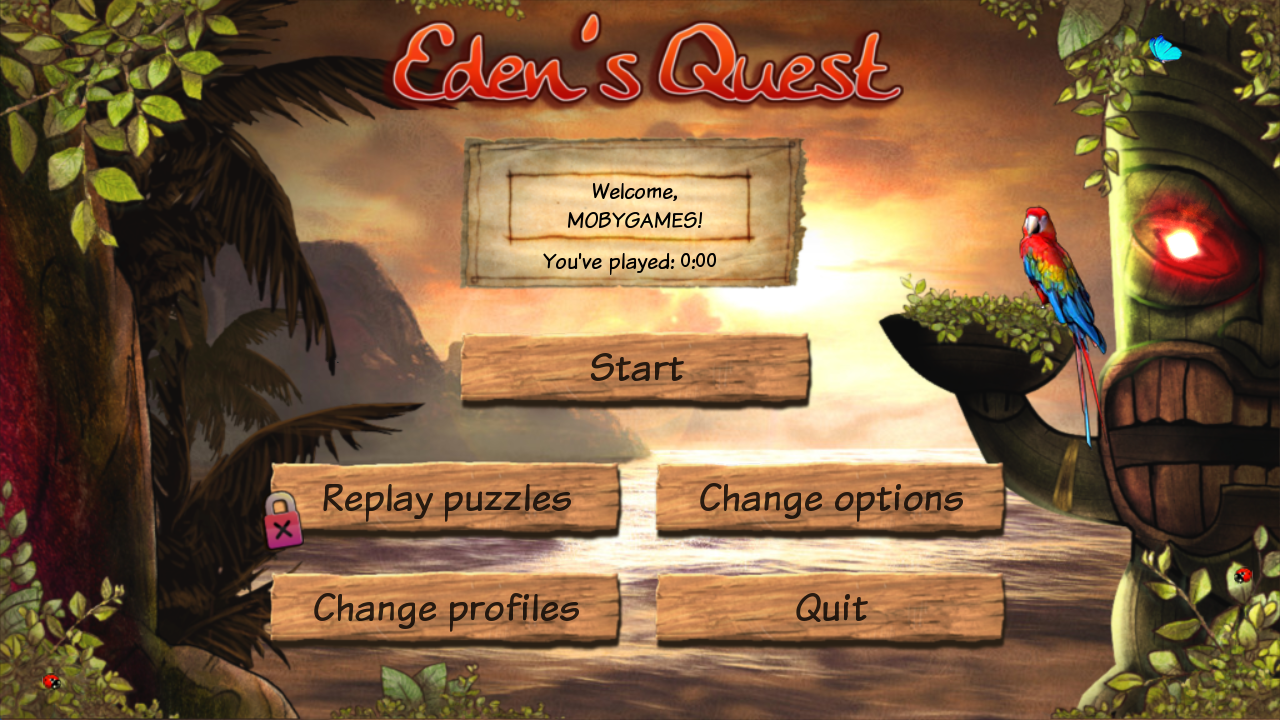 Eden's Quest: The Hunt for Akua Windows Main menu
