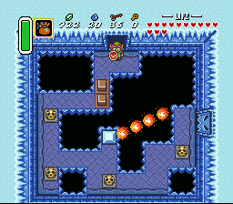 The Legend of Zelda: A Link to the Past SNES Blocked pass in ice dungeon