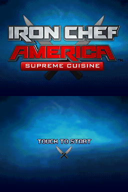 Iron Chef America: Supreme Cuisine Nintendo DS Title screen.