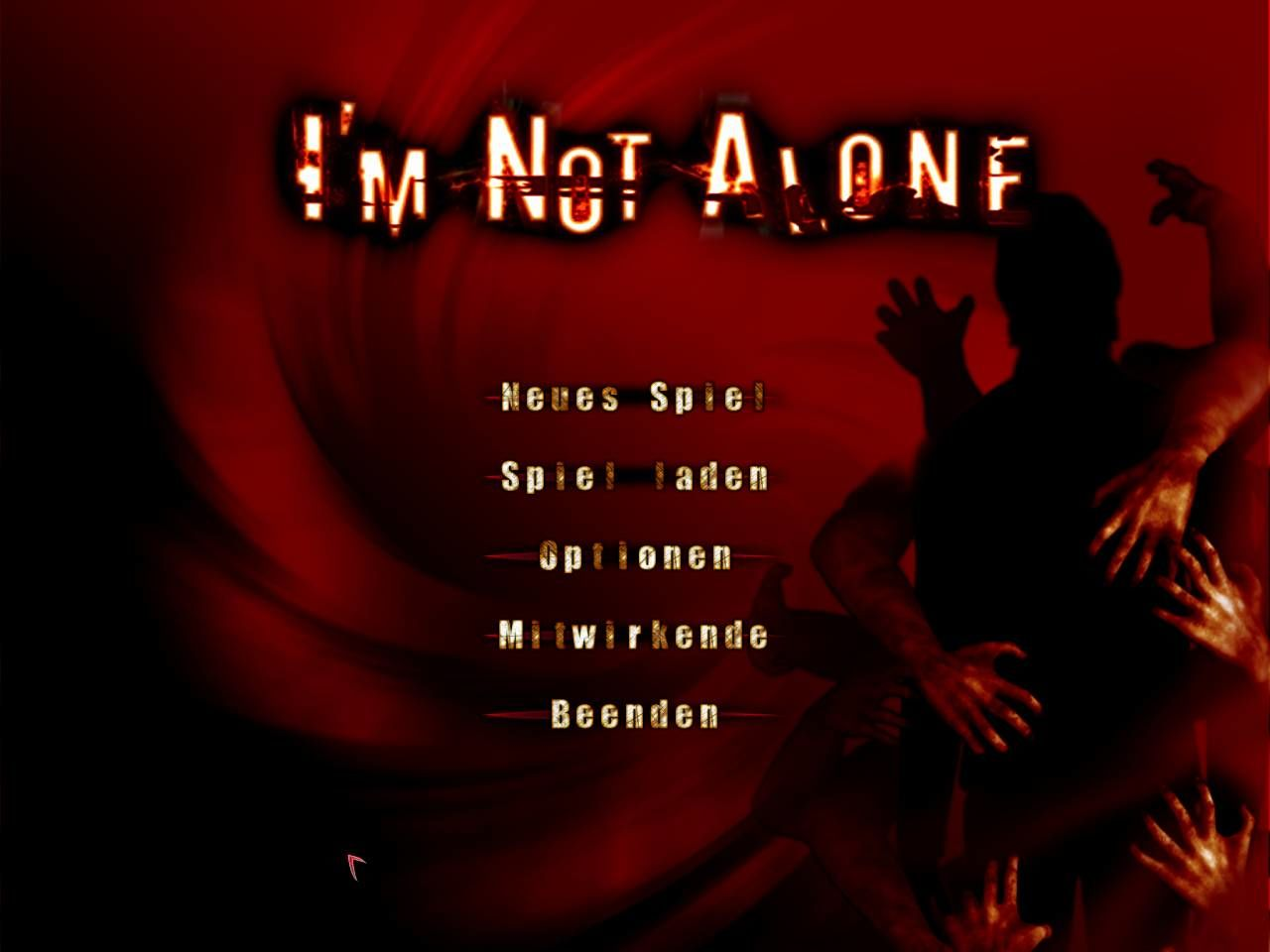 I'm Not Alone Windows Main menu (German version)