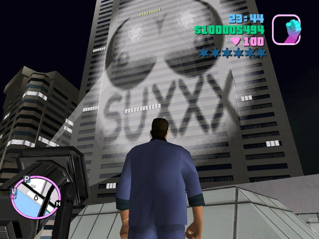 Grand Theft Auto: Vice City Windows The last job of the porno studio.  This is certainly a good publicity stunt, isn't it?