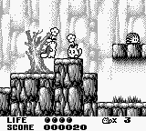 Trip World Game Boy After picking up a power-up, Flower Yacopu can stun enemies.
