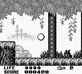 Trip World Game Boy Bouncing around as Ball Yacopu in a jungle.