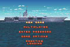 F-14 Tomcat Game Boy Advance The game's menu