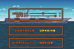 F-14 Tomcat Game Boy Advance The options menu. Why is it that the music volume in EVERY SINGLE GAME is lower than the sound effects volume?