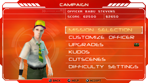 Infected PSP Pizza guy's campaign screen