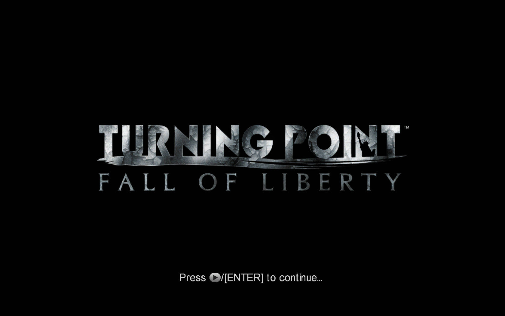 Turning Point: Fall of Liberty Windows The title screen