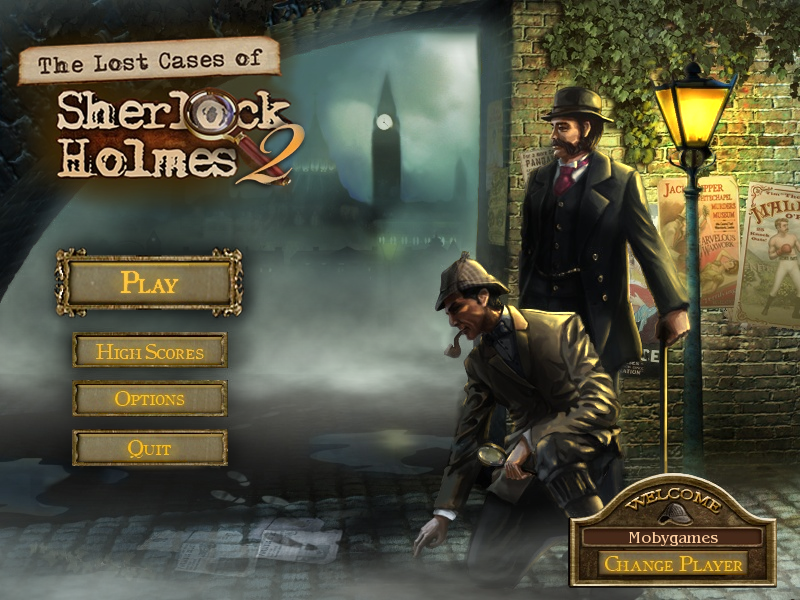 The Lost Cases of 221B Baker St. Windows Main menu