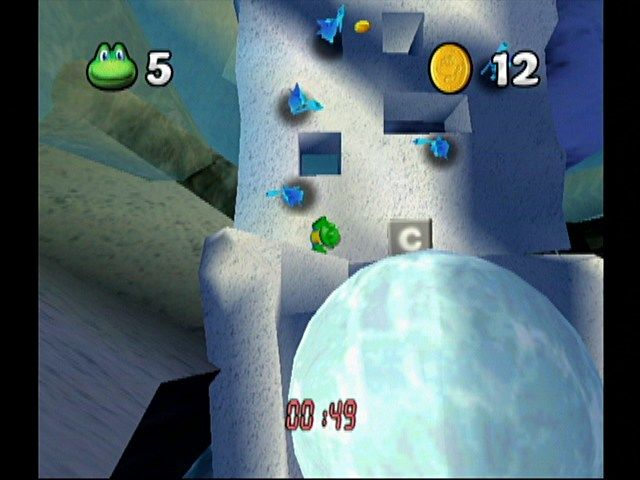 Frogger Beyond GameCube Snowy Mountain Top