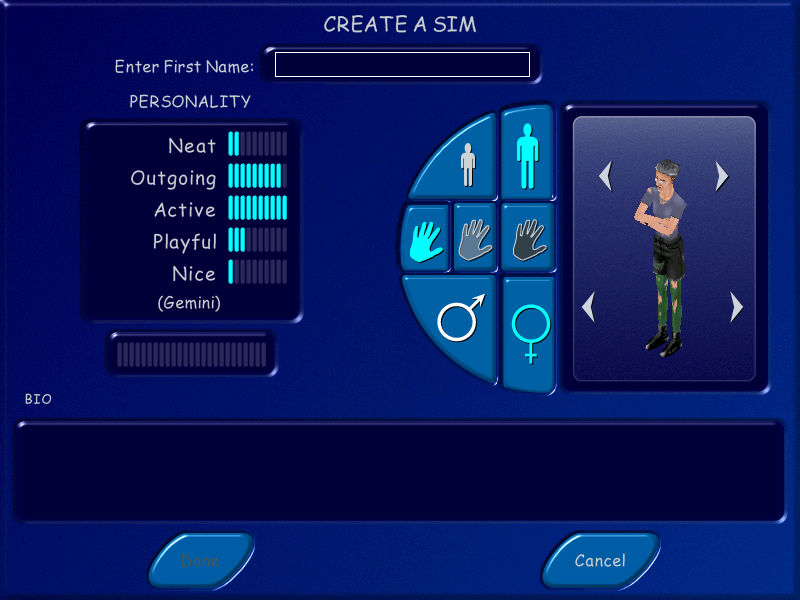 The Sims Windows Create a Sim: Punk Granny