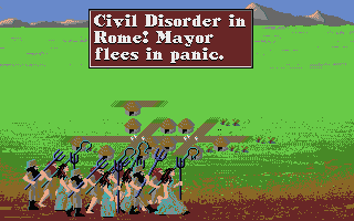Sid Meier's Civilization Atari ST Civil disorder in Rome