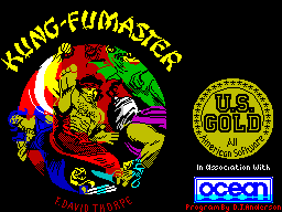 Kung-Fu Master ZX Spectrum The loading screen