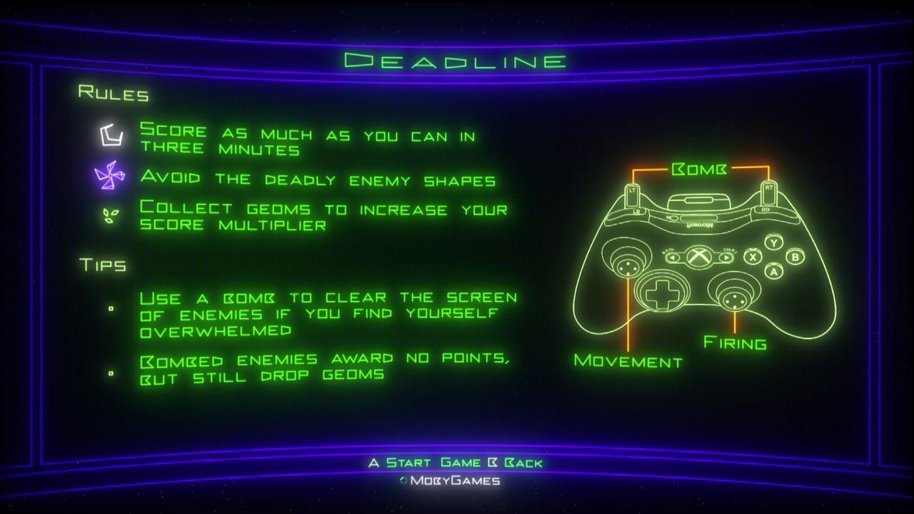 Geometry Wars: Retro Evolved 2 Xbox 360 Explaining the controls and the rules.