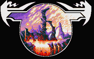 Elvira: The Arcade Game Atari ST Loading screen for the fire world