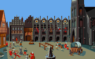 The Patrician Atari ST The town square