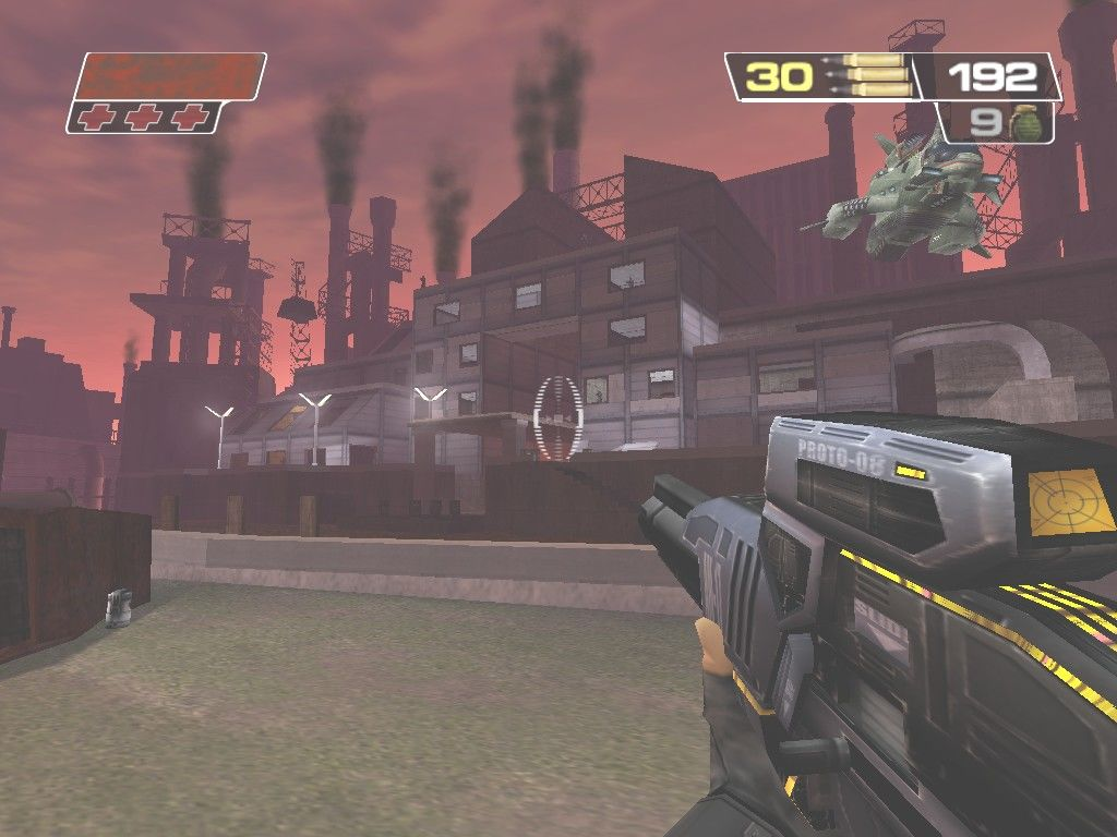 Red Faction II Windows This Hogan's Alley-type level consists entire of a sniper fight against many enemy snipers camped out in the far building