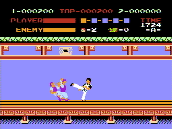 Kung-Fu Master NES High kick.