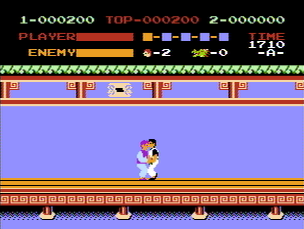 Kung-Fu Master NES When enemies grab you they drain your energy