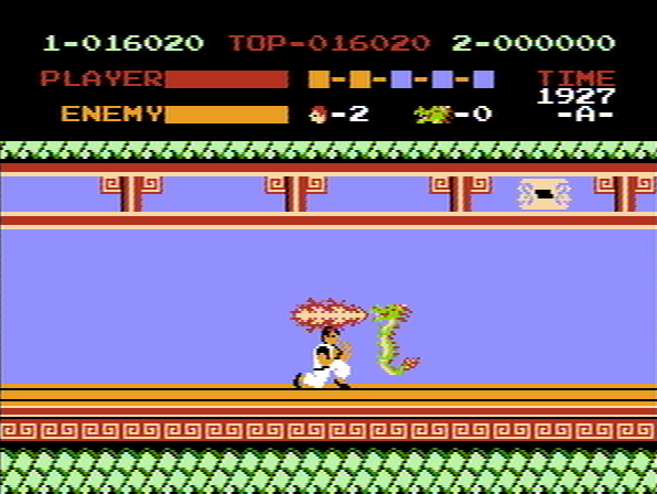 Kung-Fu Master NES Dragon with firebreath.