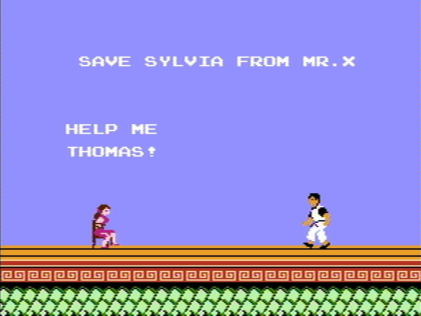 Kung-Fu Master NES Interlude - Thomas has to save Silvia from Mr.X