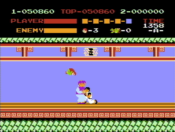 Kung-Fu Master NES Gnomes have learnt the barrel-roll.