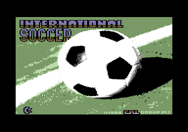 International Soccer Commodore 64 Loading screen (CRL release)