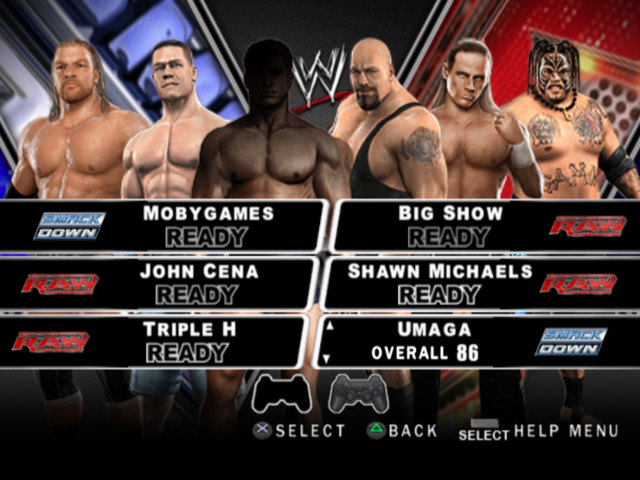 videos games wwe smackdown vs raw ps
