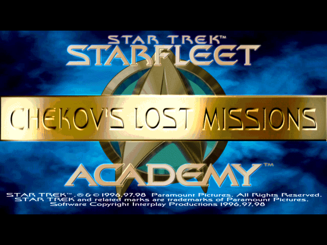 Star Trek: Starfleet Academy - Chekov's Lost Missions Windows Title screen