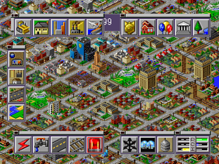 SimCity 2000 PlayStation Game start