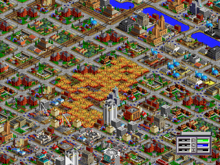 SimCity 2000 PlayStation Fire