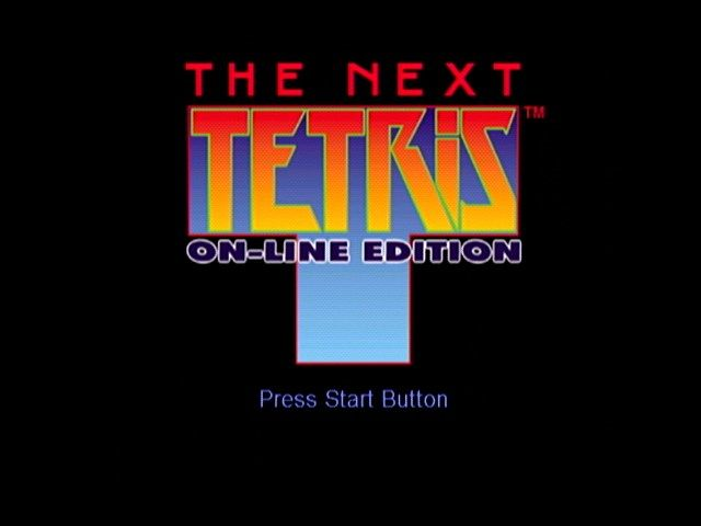 The Next Tetris: On-Line Edition Dreamcast Title Screen