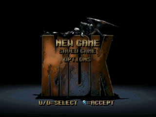 MDK PlayStation Main menu