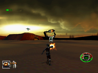 MDK PlayStation Suicidal enemy carrying a bomb.