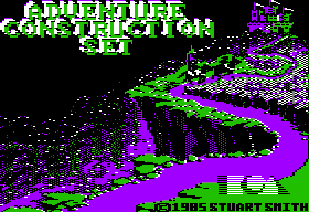Stuart Smith's Adventure Construction Set Apple II Title screen
