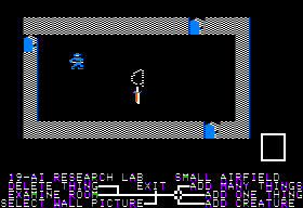 Stuart Smith's Adventure Construction Set Apple II Editing a room.