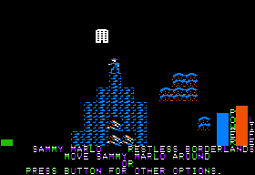 Stuart Smith's Adventure Construction Set Apple II In-game play - the main map.