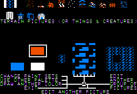 Stuart Smith's Adventure Construction Set Apple II Graphic editor - Scenery in the Mystery Set
