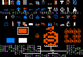 Stuart Smith's Adventure Construction Set Apple II Graphic editor - Things in the Mystery Set