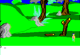King's Quest II: Romancing the Throne Apple II Exploring.