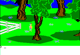 King's Quest II: Romancing the Throne Apple II More of the countryside.
