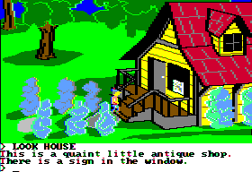King's Quest II: Romancing the Throne Apple II Antique shop.