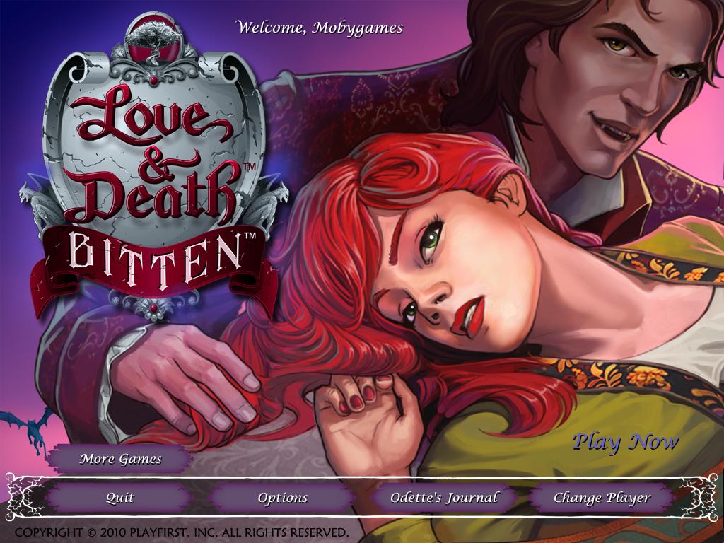 Love & Death: Bitten Windows Main menu