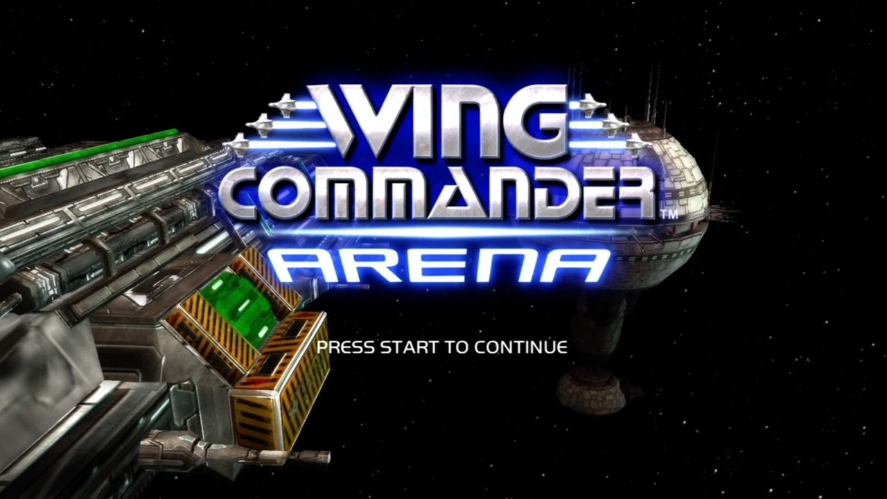 Wing Commander Arena Xbox 360 Title screen.