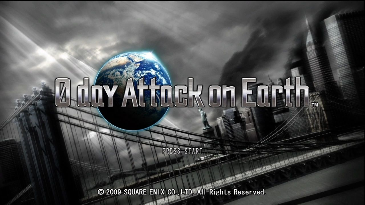 0 day Attack on Earth Xbox 360 Title screen